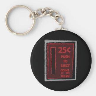 Drücken Sie, um auszustoßen Standard Runder Schlüsselanhänger