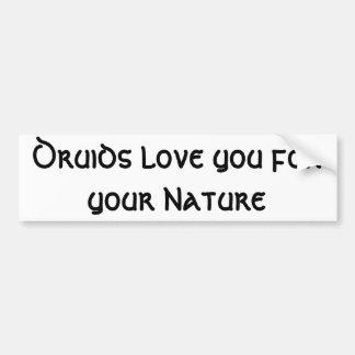 Druide-Liebe Sie für Ihre Natur Autoaufkleber