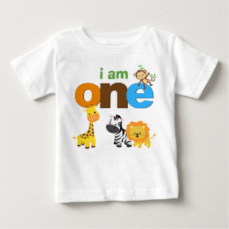 Dschungel-1. Geburtstags-T-Shirt Baby T-shirt