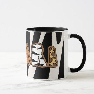 Dschungel-Safari-Thema-Kaffeetasse-Tasse Tasse