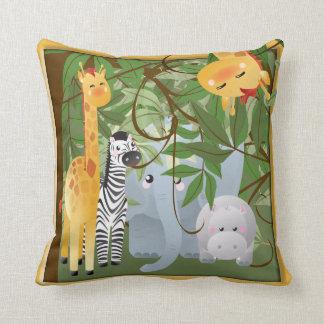 Dschungel-Safari-Tier-Kinderraum-Kissen Kissen