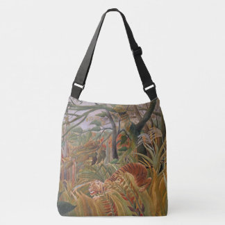 Dschungel-Tiger-Tier-Tier verlässt Taschen-Tasche Tragetaschen Mit Langen Trägern