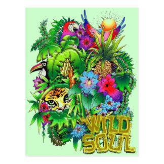 Dschungel-wilde Tier-und Pflanzen-Postkarte Postkarte