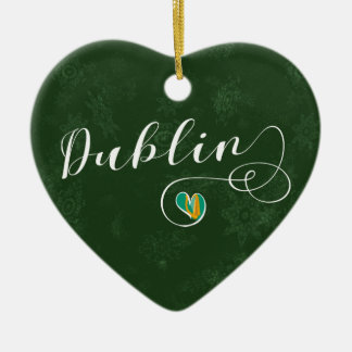 Dublin-Herz, Weihnachtsbaum-Verzierung Keramik Ornament