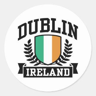 Dublin Runder Aufkleber