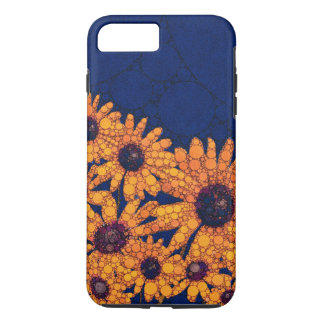 Dunkelblaue Leuchtorange-Sonnenblumen iPhone 8 Plus/7 Plus Hülle