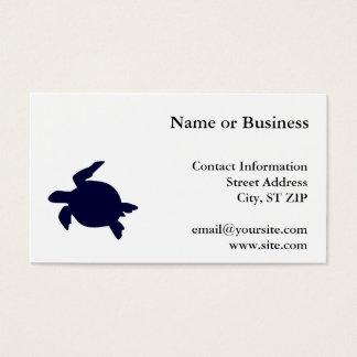 Dunkelblaue Meeresschildkröte Visitenkarte