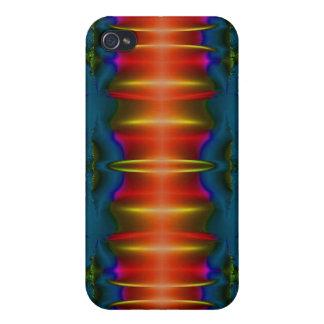 dunkelblaues rotes abstraktes etui fürs iPhone 4