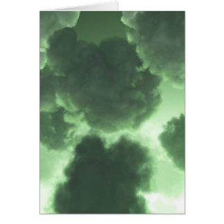 Dunkelgrüne Wolken Karte