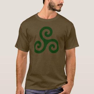 Dunkelgrünes Triskele T-Shirt