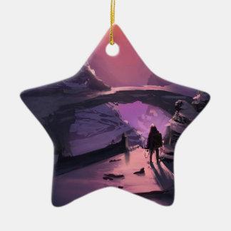 Dunkelheit ist gerade das Fehlen Licht Keramik Stern-Ornament