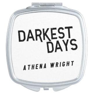 Dunkelste Tage durch kompakten Spiegel Athene Schminkspiegel
