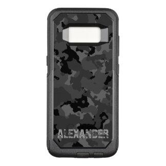 Dunkle Camouflage-Namen-Schablone OtterBox Commuter Samsung Galaxy S8 Hülle