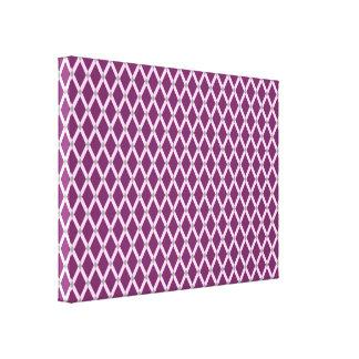 Dunkle lila Diamant-Rosa Rahmen wickelten Leinwand Galerie Falt Leinwand
