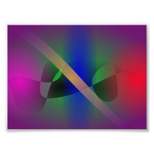 Dunkle lila gemäßigte und ursprüngliche abstrakte fotodruck