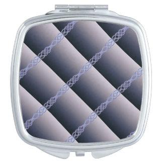 Dunkle lila Lichter Taschenspiegel
