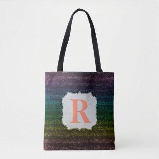 Dunkle Regenbogen-Tasche - Gewohnheits-Initiale