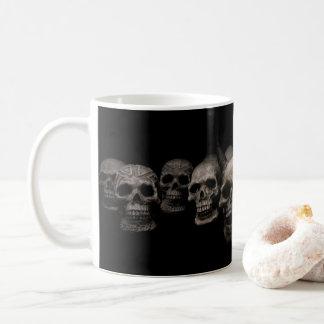 Dunkle Schädel-Tasse Kaffeetasse