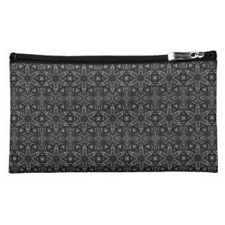 Dunkle silberne schwarze mittelalterliche Makeup-Tasche