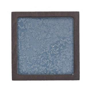 Dunkle Stahlblau-eisige Kristalle Schachtel