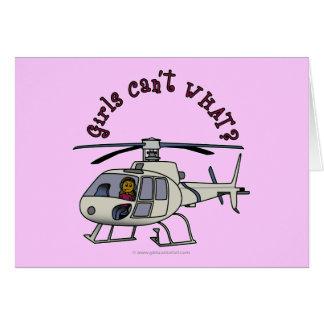 Dunkler Hubschrauber-Pilot Karte