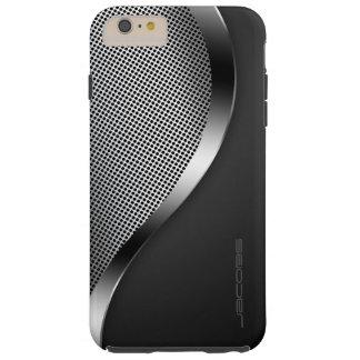 dunkler Kasten mit perforierter Platte und Tough iPhone 6 Plus Hülle