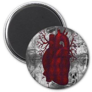 Dunkler menschlicher Herz-Magnet Runder Magnet 5,1 Cm