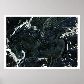 Dunkler Pegasus Poster