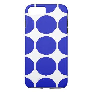 Dunkleres Blau des blauen Polygons umrandete iPhone 7 Plus Hülle