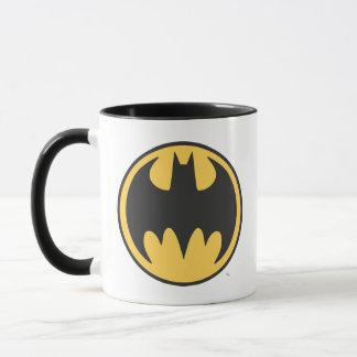 Dunkles gelbes Kreis-Logo Batman-Symbol-| Tasse