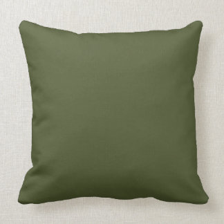 Dunkles olivgrünes Armee-Grün-moderne Farbe nur 4 Kissen
