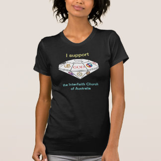 Dunkles Shirt zwischen Glaubensrichtungen