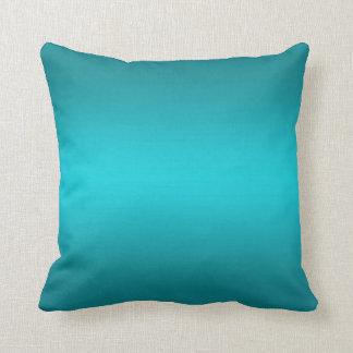 Dunkles und helles Aqua-blaue Steigung - Türkis Kissen