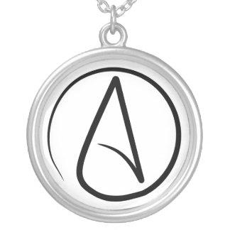 Dünne atheistische Symbol-Halskette Halskette Mit Rundem Anhänger