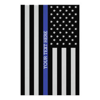 Dünne blaue Linie - amerikanische Briefpapier