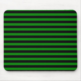 Dünne Streifen - Schwarzes und Grün Mousepad