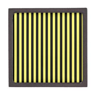 Dünne Streifen - Schwarzes und Zitrone Kiste