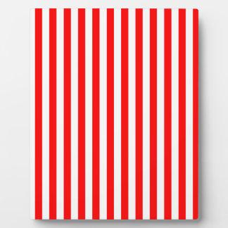 Dünne Streifen - Weiß und Rot Fotoplatte