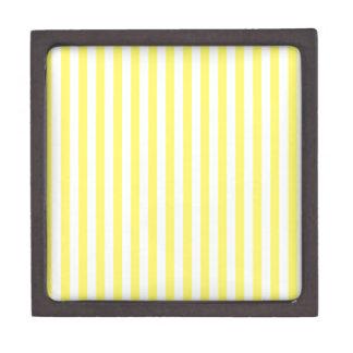 Dünne Streifen - Weiß und Zitrone Kiste
