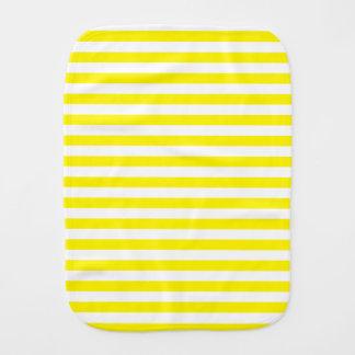Dünne Streifen - Weiß und Zitrone Spucktuch