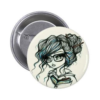 Durchschlag der Farbbuch-Mädchen-Fee-Fantasie Runder Button 5,7 Cm