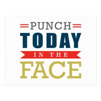 Durchschlag heute in der Gesichts-lustigen Postkarte