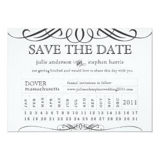 Durchschlags-Karte Save the Date 12,7 X 17,8 Cm Einladungskarte
