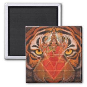 Durga u. Tiger Magnet