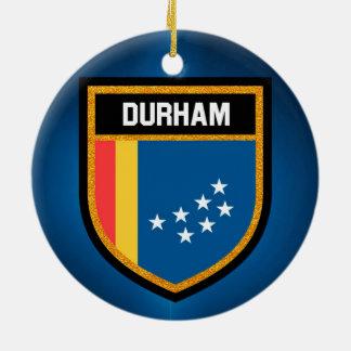 Durham-Flagge Keramik Ornament