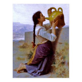 Durst (La soif) - Bouguereau ~ Postkarte