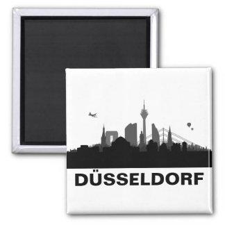 Düsseldorf Skyline Kühlschrank Magnet Quadratischer Magnet