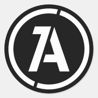 Dynamischer Anarchie-Symbol-Aufkleber Runder Aufkleber