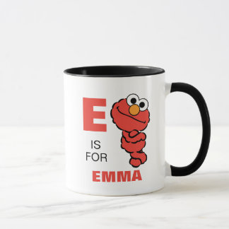 E ist für Elmo, den | Ihren Namen addieren Tasse
