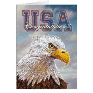 Eagle-Glückwünsche Karte